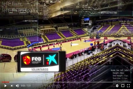 Voluntarios FEB CaixaBank y la Selección Femenina de Baloncesto 2017